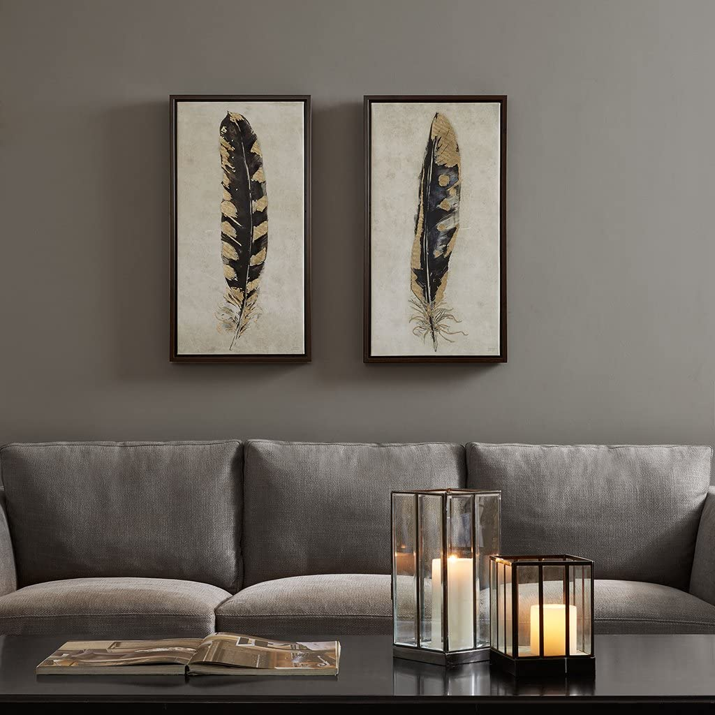 Urban Great interest Habitat Gilded Feathers 2 Piece Foil Ca Wall High quality new Art Gold Set