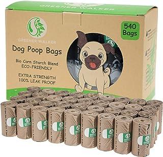 comprar comparacion Greener Walker Bolsas para Excrementos de Perro,540 Unidades,Extra Grueso,Fuerte y 100% a Prueba de Fugas Biodegradable Bo...