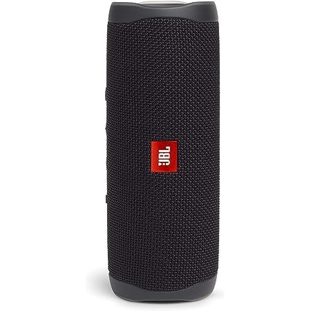 JBL FLIP5 Bluetoothスピーカー IPX7防水/USB Type-C充電/パッシブラジエーター搭載/ポータブル ブラック JBLFLIP5BLK 【国内正規品/メーカー1年保証付き】