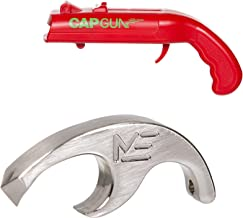 Shotgun Tool for Shotgunning Beer - Bottle Opener Fits on a Keychain - Perfect Drinking Accessories and Gifts - Complete with Bottle Cap Gun Launcher