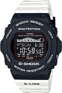 GWX5700SSN-1 Men's Atomic Solar Black White White G-Lide Tide Moon Graph G Shock Watch