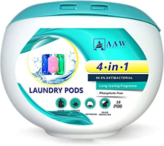 Perfume Scent Long Lasting 4 Weeks Laundry Capsule 38 Pods 15G Laundry Pods Laundry Detergent Beads 4 In 1 Washing for Was...
