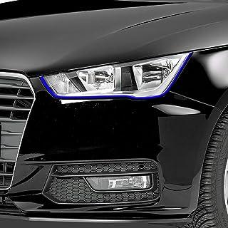 Auto Folie Böser Blick Scheinwerfer Stripes BLUE Devil Blick   BLAUE Folie für Autoscheinwerfer Autoaufkleber Tuningsticker