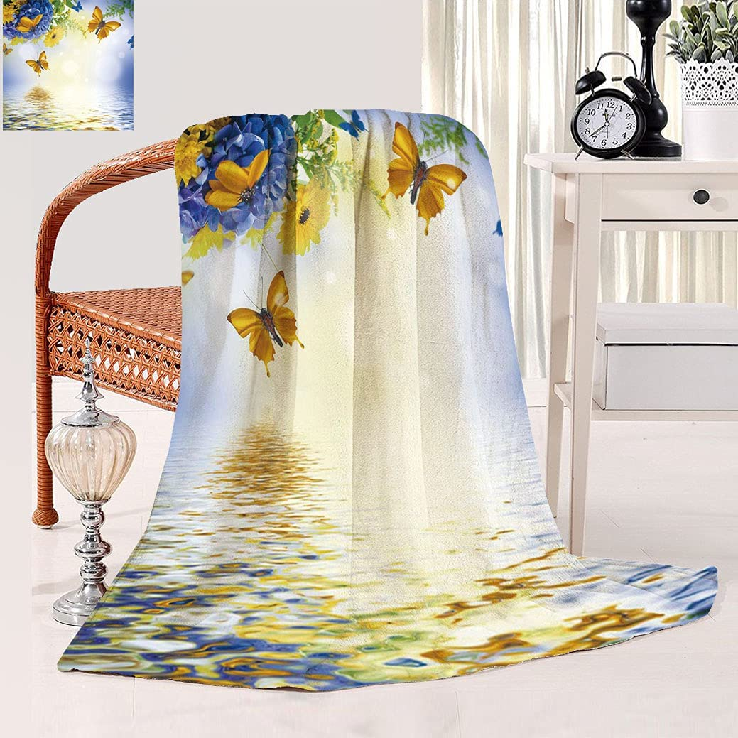 Amazing Butterfly Light Free Shipping Cheap Bargain Gift Washington Mall Blanket Hydrange with Background