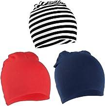 VBIGER Niños Sombrero Gorros 100% Algodón Beanie Hat Primavera otoño 3 Piezas,uno - Tres años