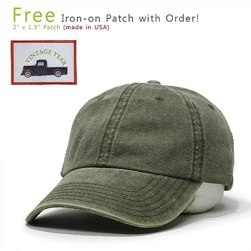 Vintage Washed Cotton Adjustable Dad Hat Baseball Cap