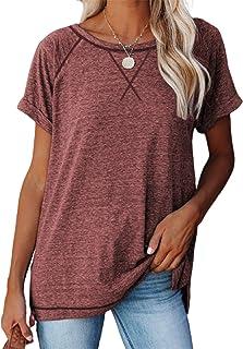 HAVANSIDY Womens Shirts Short Sleeve Baseball Tops Casual T Shirts