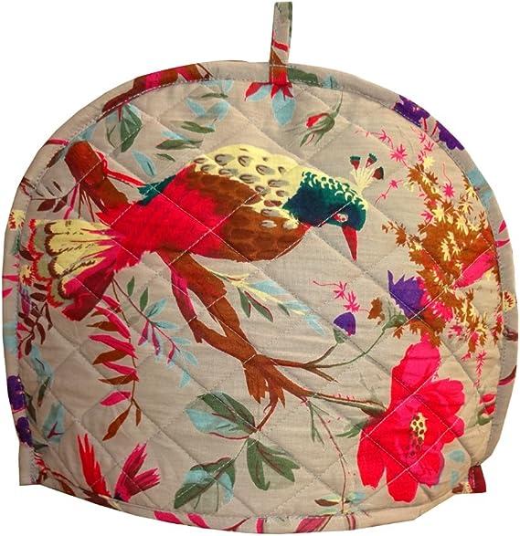 Shubhlaxmifashion Bird Print Gery Decorative Tea Cosy Vintage Gery Creative Printed Cotton Tea Cozy
