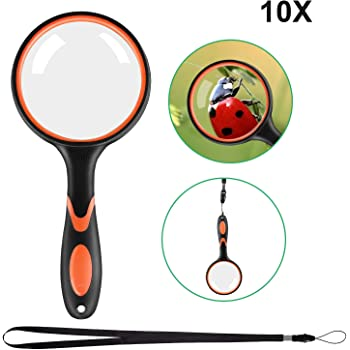 LED Illuminated Magnifier with 4X Magnification Jewellery Hobbies /& Crafts Lightweight Handheld Magnifying Glass for Reading Dandelion Magnifying Glass with Light Low Vision