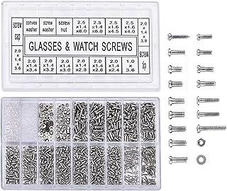 Yosoo 1000 stuks roestvrij stalen brillen, horloges, reparatie schroeven, reserve-kit, set kleine schroeven, moeren, repar...