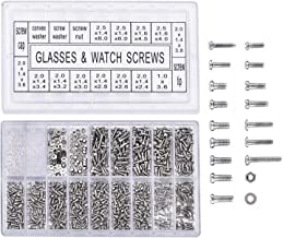 Yosoo 1000 stuks roestvrijstalen brillen horloge reparatie schroef vervanging kit set kleine schroeven moeren assortiment ...