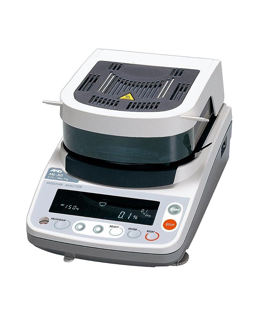 トリム耐えられない予防接種するA&D 加熱乾燥式水分計 ML-50 ?ひょう量:51g 最小表示:0.005g 水分率:0.1% 皿寸法:φ85mm 検定無?