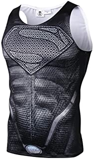 NINI スーパーマン Tシャツ 速乾 スポーツ tシャツ 半袖tシャツ 3D高品質 プリント tシャツ メンズ タンクトップ