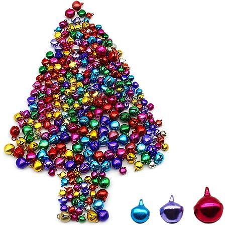 Campanellini Colorati,BETOY 3 Pezzi Decorazioni Campanellini Campanellini Natale per Feste,Decorazioni di Gioielli Collari per Animali Domestici,Artigianato Fai-da-Te,Alberi di Natale,Colore Casuale