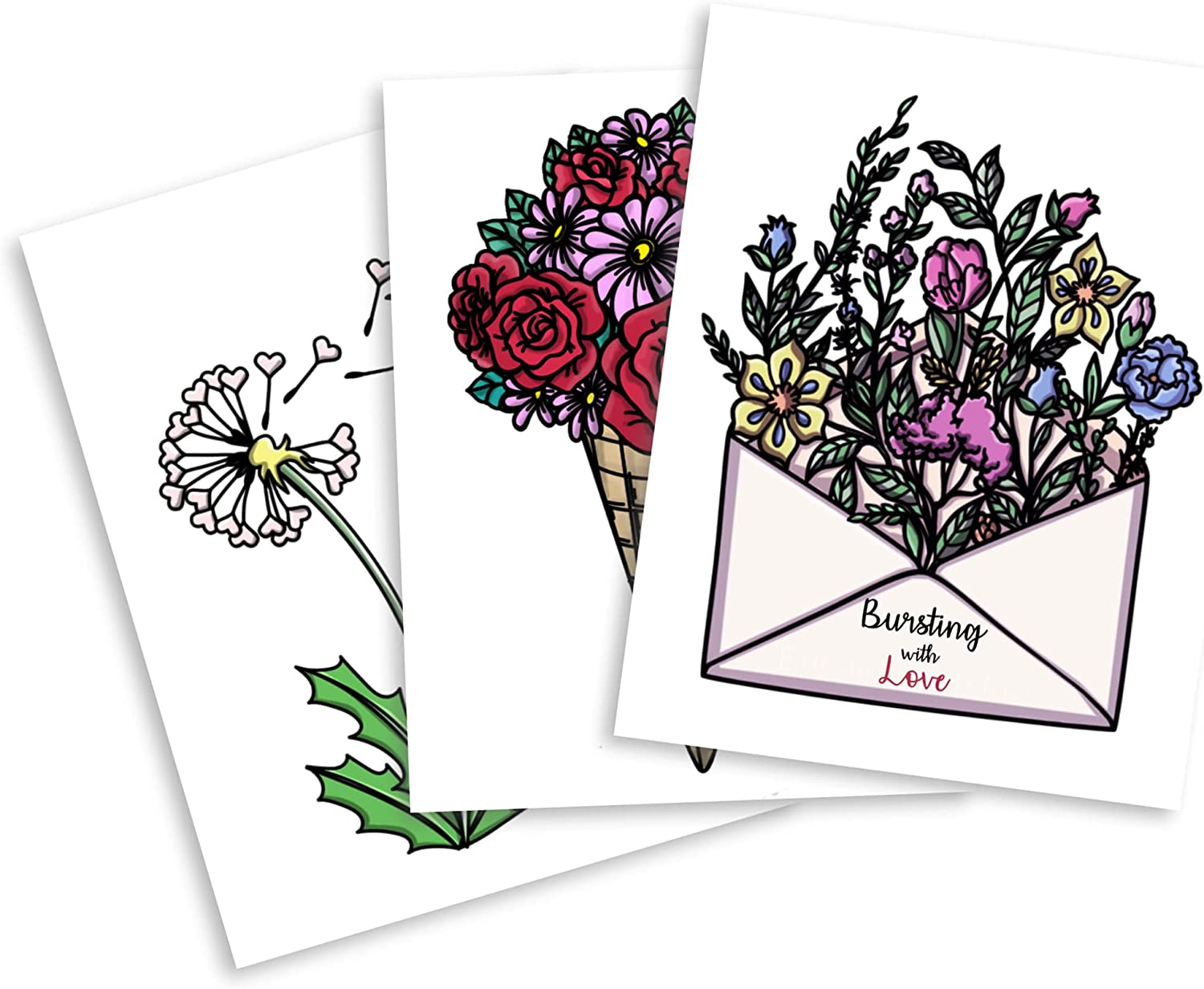 Easy Cheap mail order sales Coloring Postcards for Adults Pain Stock Card Premium Raleigh Mall