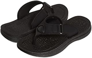 Skysole Kids Sandals for Boys, Rugged Flip Flops Slides for Kids with Strap