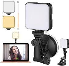 Video Conference Lighting Kit, Laptop Webcam Lighting with Suction Cup, LED Camera Light for Photography, Zoom Meeting, Remote Working, Streaming, Self Broadcasting, Vlogging(Dimmable & Rechargeable)
