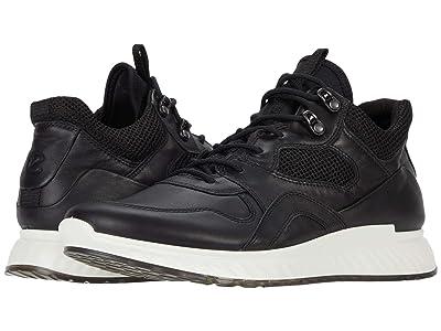 ECCO ST.1 Urban Sneaker (Black/Black) Men