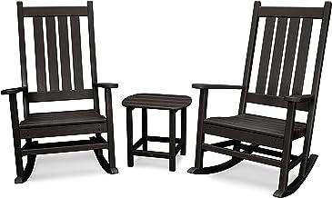 product image for POLYWOOD Vineyard 3-Piece Rocking Set (Black)