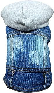 DC.PET Clothes Dog Jean Jacket Dog Hoodie Dog Denim Blue Vest Coat Shirt Dog Clothes Small Medium Dogs