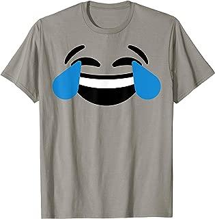 Emoji Christmas Costume Laughing Tears of Joy Emoji T shirt