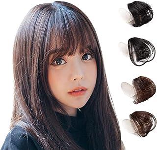 Hawkko 前髪ウィッグ 100%人毛 総手植え レディース エクステ ポイントウィッグ ふんわり 超薄型 小顔 ワンタッチ 自然 耐熱 ぱっつん/サイドあり