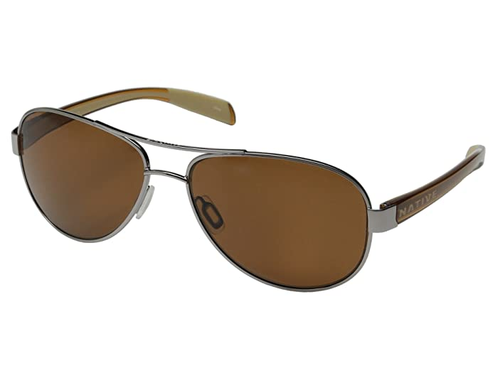Native Eyewear Patroller (Chrome/Crystal Brown/Brown) Sport Sunglasses