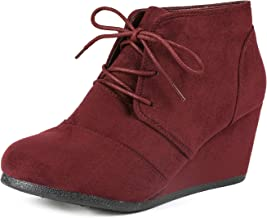 Best burgundy lace up wedges Reviews