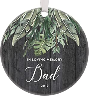 In Loving Memory of Dad 2019 Special Xmas Ornament Memorial Celebration Life Forever Missed Always Loved Never Forgotten Honoring Father's Day Gift Comforting 3
