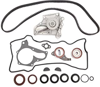 SCITOO TCK199 Timing Belt Kit Water Pump Set Valve Cover Gasket with Spark Plug Tube Seals fit 87-01 Toyota 2.0L 2.2L DOHC 3SFE 5SFE
