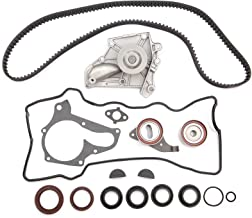 SCITOO TCK199 Timing Belt Kit Water Pump Set Valve Cover Gasket with Spark Plug Tube Seals fit 87-01 Toyota 2.0L 2.2L DOHC 3SFE 5SFE