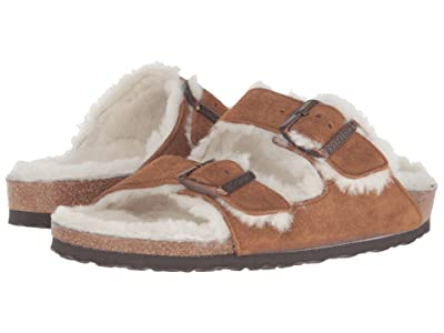 Birkenstock Arizona Shearling (Mink Suede) Shoes