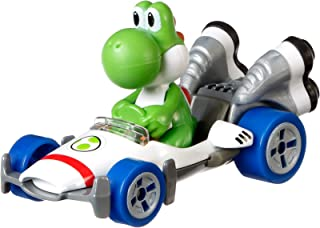 Hot Wheels GBG29 Mario Kart Yoshi, B-Dasher Vehicle, Multicolour