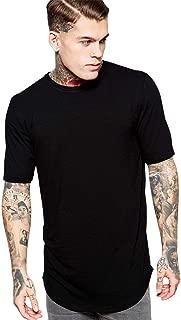 Camiseta Alongada Longline Lisa Oversized Básica Preta