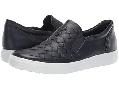 ECCO Soft 7 Woven Slip-On (Night Sky Cow Leather) Women