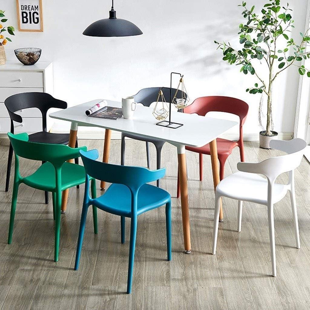 Dossier Tabouret Chaise Moderne Minimaliste Créatif Loisirs Maison PP En Plastique Dinant La Chaise Meubles (Color : Sky Blue) Peacock Blue