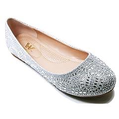 49d326776 Walstar Women Casual Rhinestone Flat Shoes