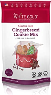 Extra White Gold Gluten Free Gingerbread Cookie Mix – For Gingerbread Cookies – [Plant Based] [Gluten Free] [Allergy Free]...