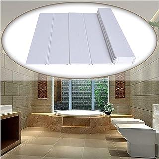 お風呂 ふた 風呂ふた 抗菌、バスタブカバー 防塵折りたたみ式ダストボード PVC 浴槽断熱カバー シャワーバスルームシェルフ 複数のサイズ (Color : White, Size : L0.9X0.68M)