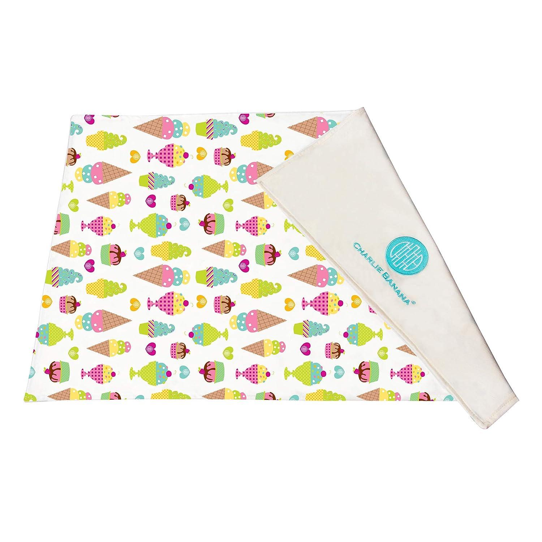 Charlie Banana Baby Premium Cotton Reusable and Washable Ultra-Soft Changing Pad, Gelato