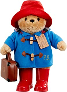 Paddington Bear Classic Plush Toy with Boots and Suitcase