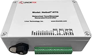 Linortek Netbell-NTG Network All-in-One Multi-Tone/Message Generator/Controller Used for School/Factory/Industrial Commercial Existing Public Address (PA) or Paging System