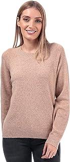 Vero Moda Doffy Lurex - Jersey de Cuello Redondo para Mujer, Color marrón Tabaco