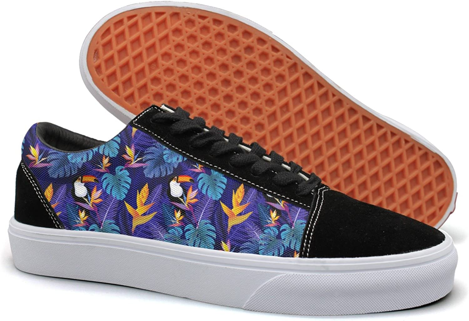 Hjkggd fgfds Casual Flowers and Toucan Bird Beautiful Women Canvas Sneakers shoes