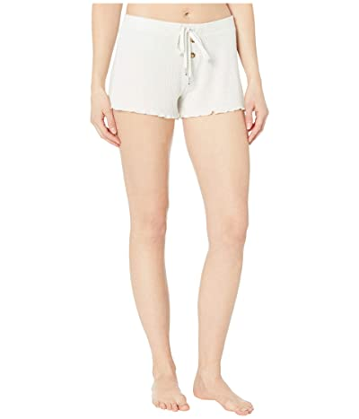 P.J. Salvage Texture Lounge Sleep Shorts (Beige Melange) Women