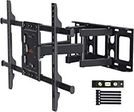 Perlegear Full Motion TV Wall Mount Bracket Dual Articulating Arms Swivels Tilts Rotation for Most 37-75 Inch LED, LCD, OL...