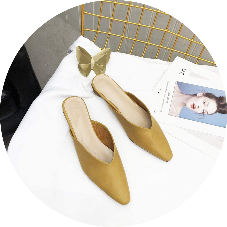 Get-in Mules Women Elegant Slippers Slides Dress Woman shoes Female Footwear
