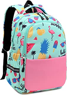 Kids Backpack for Girls Preschool Backpack Toddler Boys Bookbag Nursery Daycare Elementary Flamingo and Pineapple