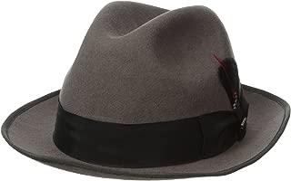 Classico Men's Wool Felt Fedora Hat, Grey, Large