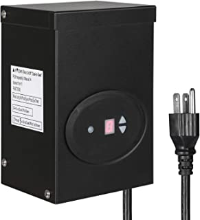 DEWENWILS 120W Outdoor Low Voltage Transformer with Timer and Photocell Sensor, 120V AC to 12V AC, Weatherproof, for Halogen & LED Landscape Lighting, Spotlight, Pathway Light, ETL Listed